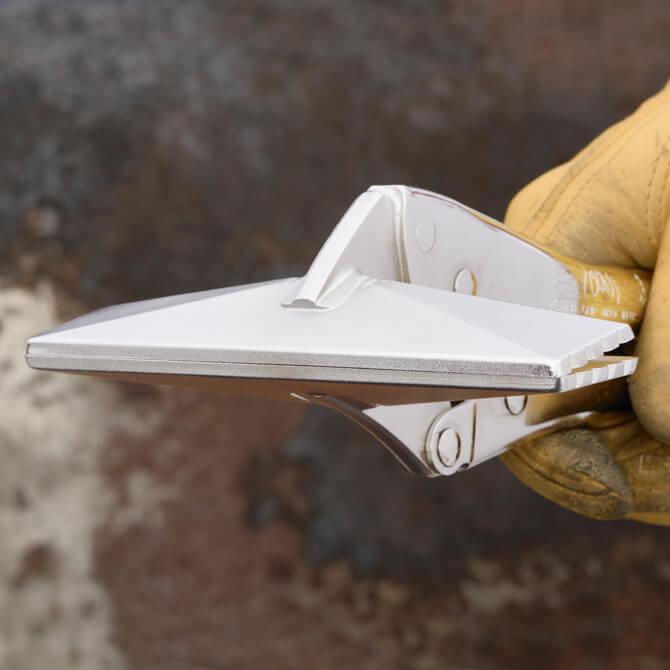 Profil avant de la tête à jointer de 6 pouces d'une pince verrouillable Eagle Grip